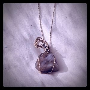 Wrapped Stone/Crystal Healing Pendant Brand New